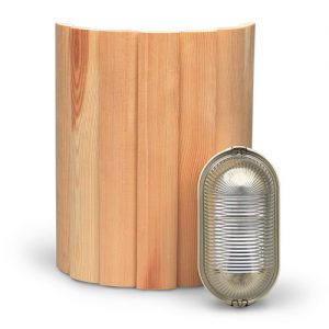 Sauna lampenkap wand