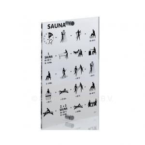 Saunagang Luxe acrylglas